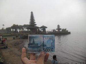 Danau Batur, Bedugul ada di uang lima puluh ribu rupiah.